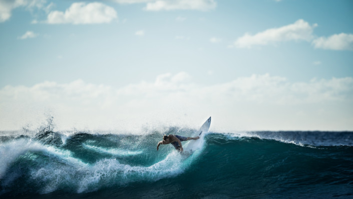 Surfing like a pro.