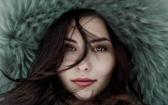 Nice girl face shot