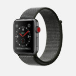 Apple Watch Space Gray Aluminum Case with Dark Olive Sport Loop